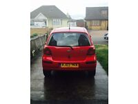 Toyota Yaris 2003 1.0 VVTI T3 Petrol 3 DR Red Excellent Condition