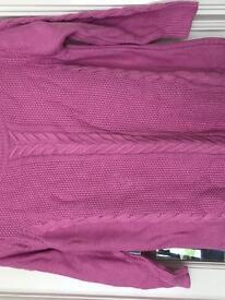 Pink oasis jumper 1/4 length sleeves