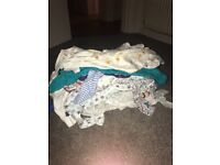 Baby boys clothes and baby grows 0-3 months