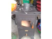 New 5 kw Cast Iron Wood Burning Stove