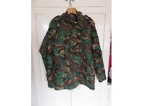 Army Jacket Camoflage Size Large