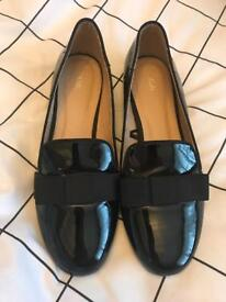 Next Patent Flat Shoes - Size 6