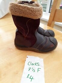 Girls clarks Boots size 6, 6.5, 7.5 and size 9.