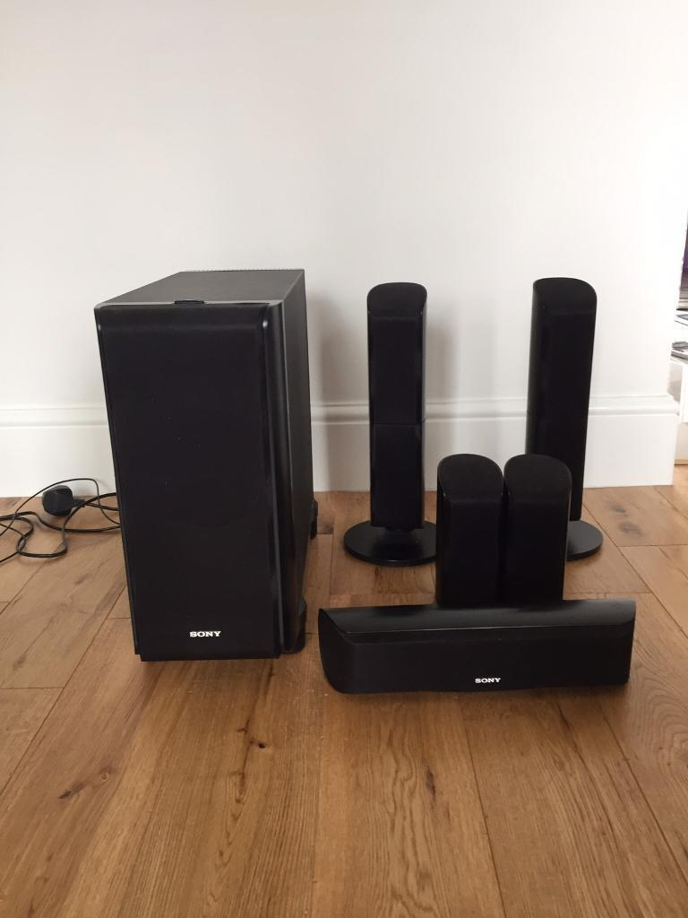 Sony active subwoofer SA-WVS350 with 5 speakers