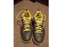 Men's Li-Ning Star Icon Badminton Shoes, UK 11 EU 46, Gray and Yellow