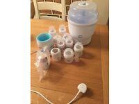 Avent electric steriliser, bottle warmer & bottles