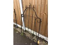 wrought iron arched garden gate £20