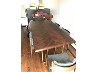 Art Deco dining room table and chairs