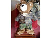 Build a Bear Army Guy with Desert boots and Dogtag - Shipley