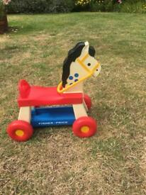 Fisher Price ride on horse