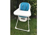 Mamas and Papas high chair in teal