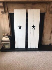 BEAUTIFUL handmade French inspired decretive shutters made to order