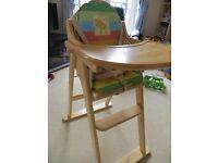 East Coast wooden folding highchair