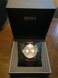 Hugo Boss Watch - Brown Leather Strap.