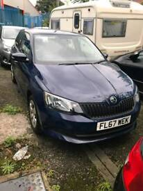 Skoda fabia 1.0 petrol 2017 5 door blue very low miles