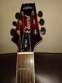 Red Aria Elecord Acoustic electric guitar