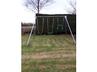 TP metal frame doulble swing and trapeze