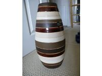 HAND MADE brown (home decor) large vase