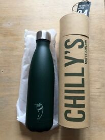 Chilly's 500ml Unused Insulated Water Bottle Green