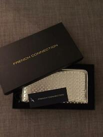 French connection silver brand new wallet