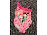 Brand New Girl's Minion Swimming Costume 5-6
