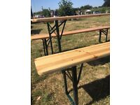 Bavarian beer benches garden benches 3 sets avaliable