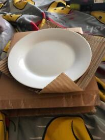 4 White side plates brand new in box