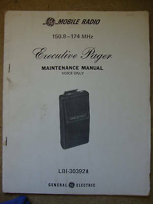 Ge Executive Pager Vhf Voice Only Maint Manual 263