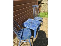 Pair of Ercol chairs with matching table