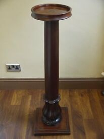 Antique Large Mahogany Plant Stand