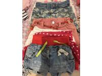 Girls denim shorts age 3-4 bundle (8 pairs)