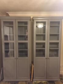 Ikea display cabinet grey like new