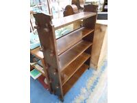 OAK ARTS AND CRAFTS PEGGED BOOKCASE