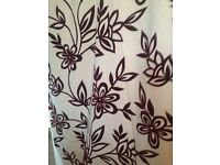 Red floral made to measure curtains