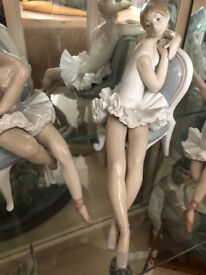Lladro Ballerina on Chair