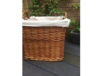 Large wicker basket storage toy box laundry basket