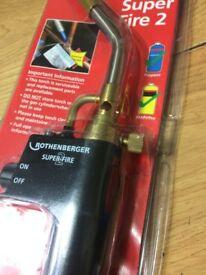 Brand New Rothenberger Super Fire 2 Blow Brazing Torch Welding Brazing Soldering Plumbing