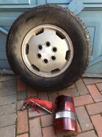 ISUZU trooper spare wheel rear light cluster and tool bag
