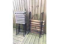 4 ikea garden chairs & 2 tables