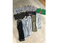 Age 4-5 year bundle of children's trousers and t-shirts
