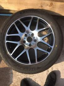 1x New Alloy 5 stud Wheel fitted New Tyre 255/45/18 103W UNUSED Bargain price as pictured,