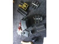 Large set of new style SCALEXTRIC plus accessories