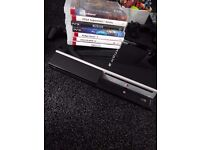 Ps3 with control and 7 games.