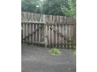 Wooden Gates for free. Have been removed and lying next to fence.