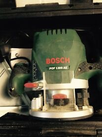 bosh plunge router vgc in case with instructions