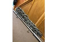 Olympic TriGrip Weights & Barbell Set. •Can Deliver•