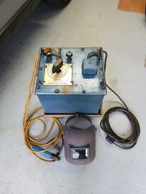 180 AMP oil cooled welder, with mask etc.
