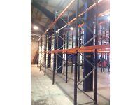 5 bay run of Mecalux pallet racking 3m high( storage , shelving )
