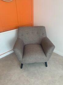 Grey Isla fabric armchair