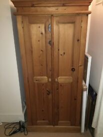 Beautiful Wooden Timber Wardrobe - £25 (must be collected by Mon 20th Feb at 5PM)